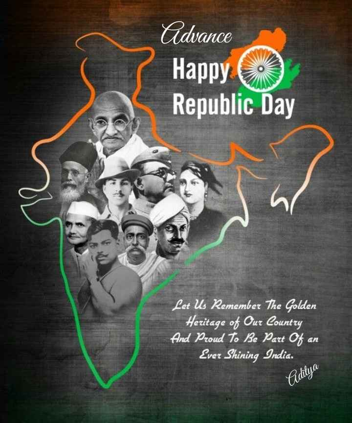 🇮🇳🇮🇳🇮🇳गणतंत्र दिवस की शुभकामनाएँ - Cidvance Happy Republic Day Let Us Remember The Golden Heritage of Our Country And Proud To Be Part of an Ever Shining India . Piditya  - ShareChat