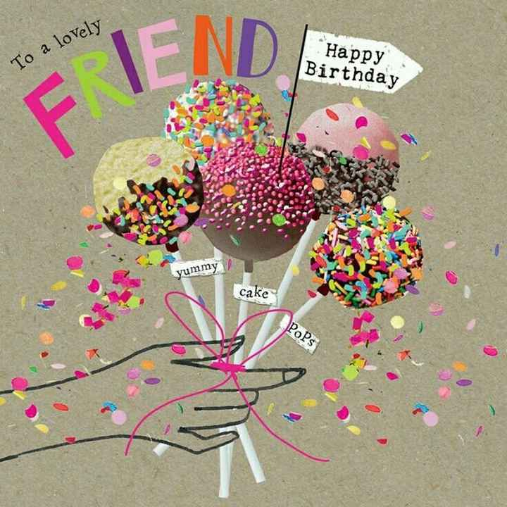 🎂 जन्मदिन 🎂 - To a lovely Happy Birthday yummy cake POPs - ShareChat