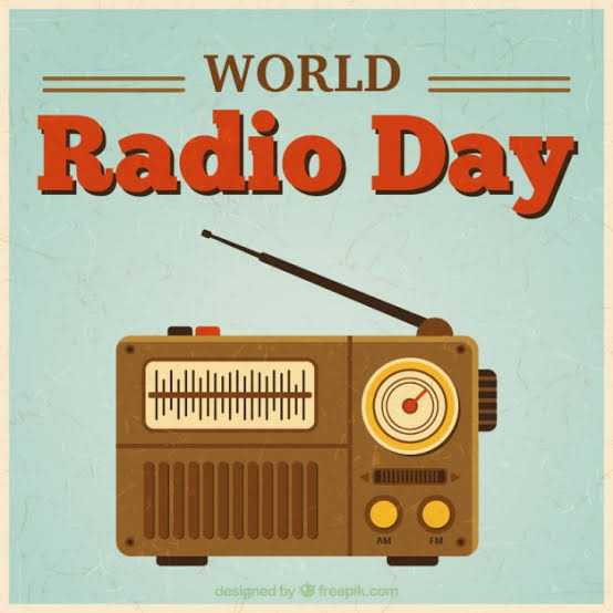 🔈जागतिक रेडीओ दिन - WORLD Radio Day MWIMUM designed by freepik . com - ShareChat
