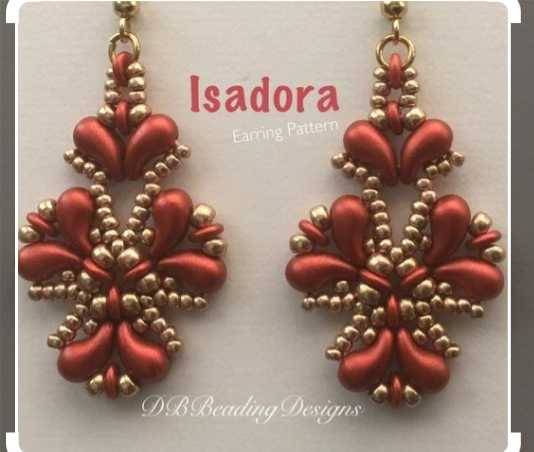 💍ज्वेलरी / बांगड्या - Isadora Earring Pattern DBBeading Designs - ShareChat