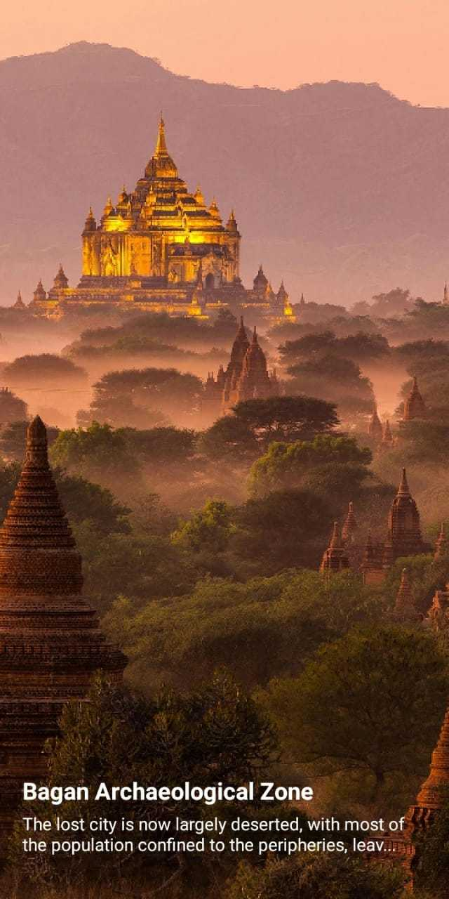 🌳नेचर फोटोग्राफर - Bagan Archaeological Zone The lost city is now largely deserted , with most of the population confined to the peripheries , leav . . . - ShareChat