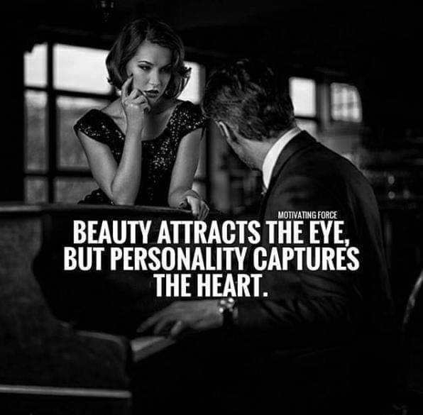 💌  प्यार की शायरी - MOTIVATING FORCE BEAUTY ATTRACTS THE EYE , BUT PERSONALITY CAPTURES THE HEART . - ShareChat