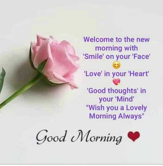 🙌मराठी कट्टा - Welcome to the new morning with ' Smile ' on your ' Face ' ' Love ' in your ' Heart ' ' Good thoughts ' in your ' Mind ' Wish you a Lovely Morning Always Good Morning - ShareChat