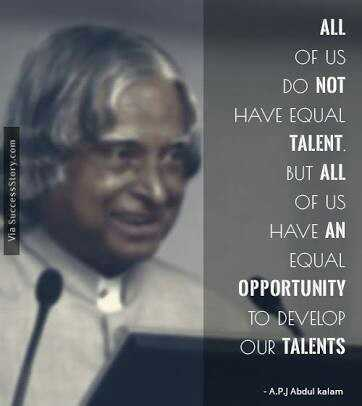 मेरी मातृभाषा - Via Success Story . com ALL OF US DO NOT HAVE EQUAL TALENT . BUT ALL OF US HAVE AN EQUAL OPPORTUNITY TO DEVELOP OUR TALENTS - A . PJ Abdul kalam - ShareChat
