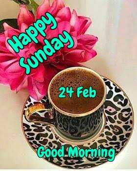 🌷शुभ रविवार - Happy ) . Sunday 24 Feb Good Morning - ShareChat