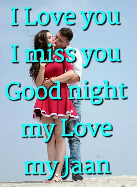 🌙शुभरात्रि - I Love you I miss you Good night my Love myJaan  - ShareChat