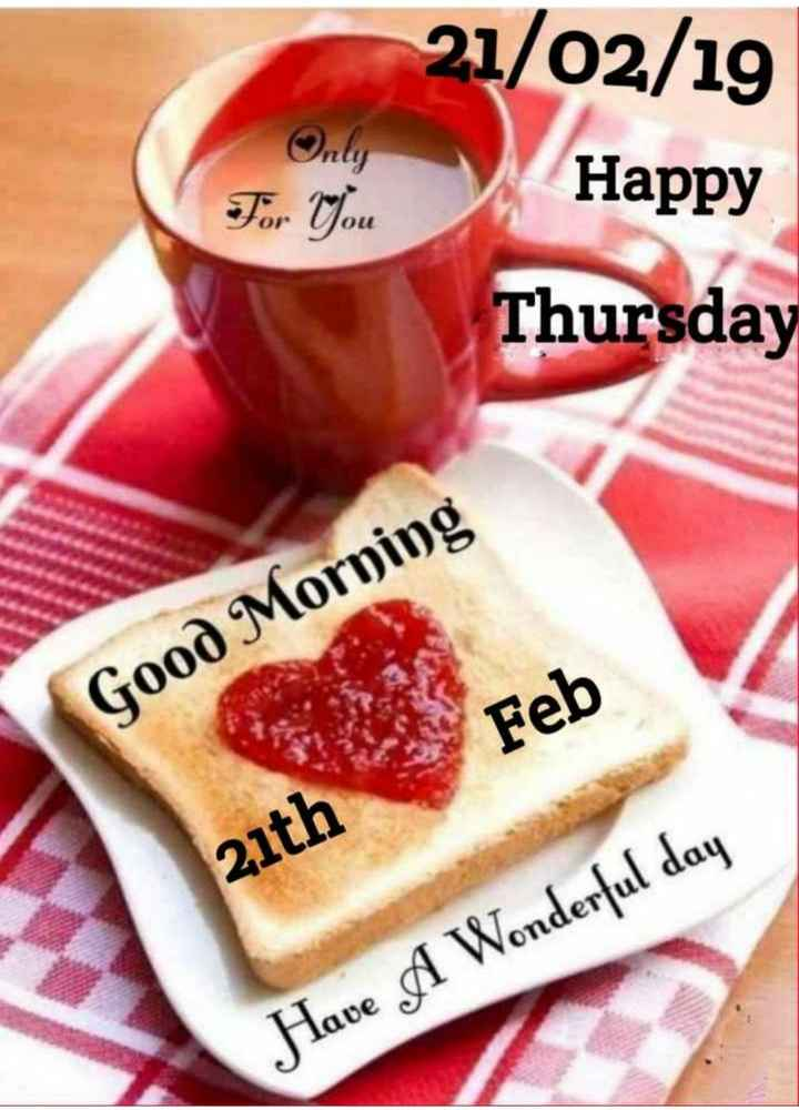 🌄  सुप्रभात - Only For You 21 / 02 / 19 Happy Thursday Olt Good Morning Feb Feb 21th Have A Wonderful day - ShareChat