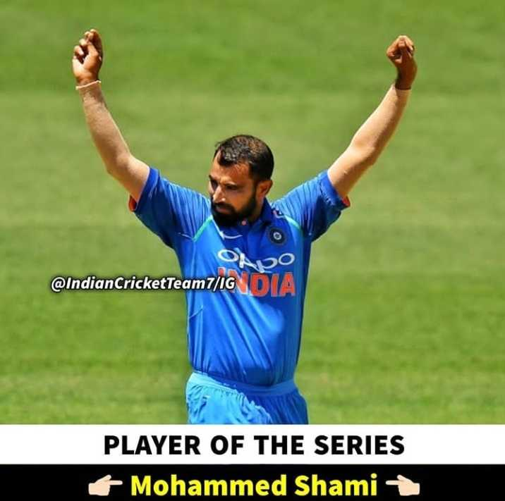 📰स्पोर्ट्स अड्डा - O @ IndianCricketTeam 7 / IG PLAYER OF THE SERIES Mohammed Shami + - ShareChat