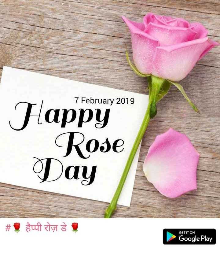 🌹 हैप्पी रोज़ डे 🌹 - 7 February 2019 Happy Rose | Tag # $ sunt aty s GET IT ON Google Play - ShareChat