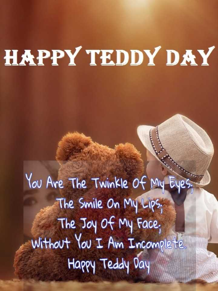 🧸 টেডি ডে - HAPPY TEDDY DAY You Are The Twinkle of My Eyes . The Smile On My Lips . The Joy of My Face , Without You I Am Incomplete Happy Teddy Day - ShareChat