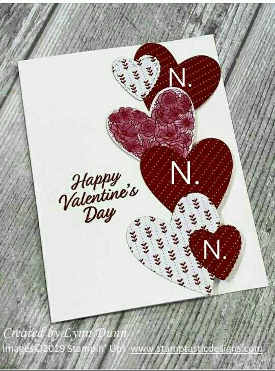 🎁 વેલેન્ટાઇન ગિફ્ટ & કાર્ડ - € e Happy , Valentine ' s . . Day fee 17 Created by Lynn Dunn Images © 2019 Stampin Up www . stamptasticdesigns . com H - ShareChat
