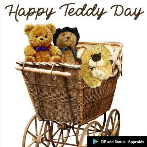 ଟେଡି ଡେ - Happy Teddy Day thens WW TULCE LE HT DP and Status : Approids - ShareChat