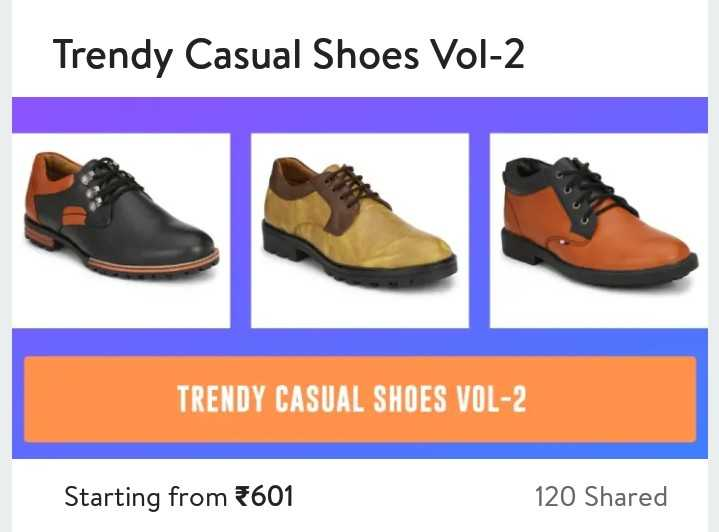 சர்வம்தாளமயம் - Trendy Casual Shoes Vol - 2 TRENDY CASUAL SHOES VOL - 2 Starting from 601 120 Shared - ShareChat