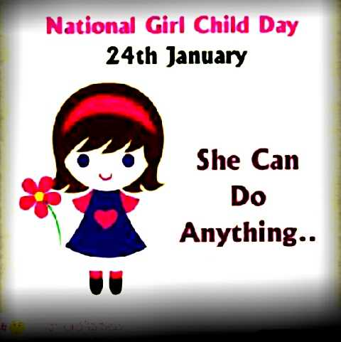 ఆణిముత్యాలు - National Girl Child Day 24th January She Can Do Anything . . She Can - ShareChat