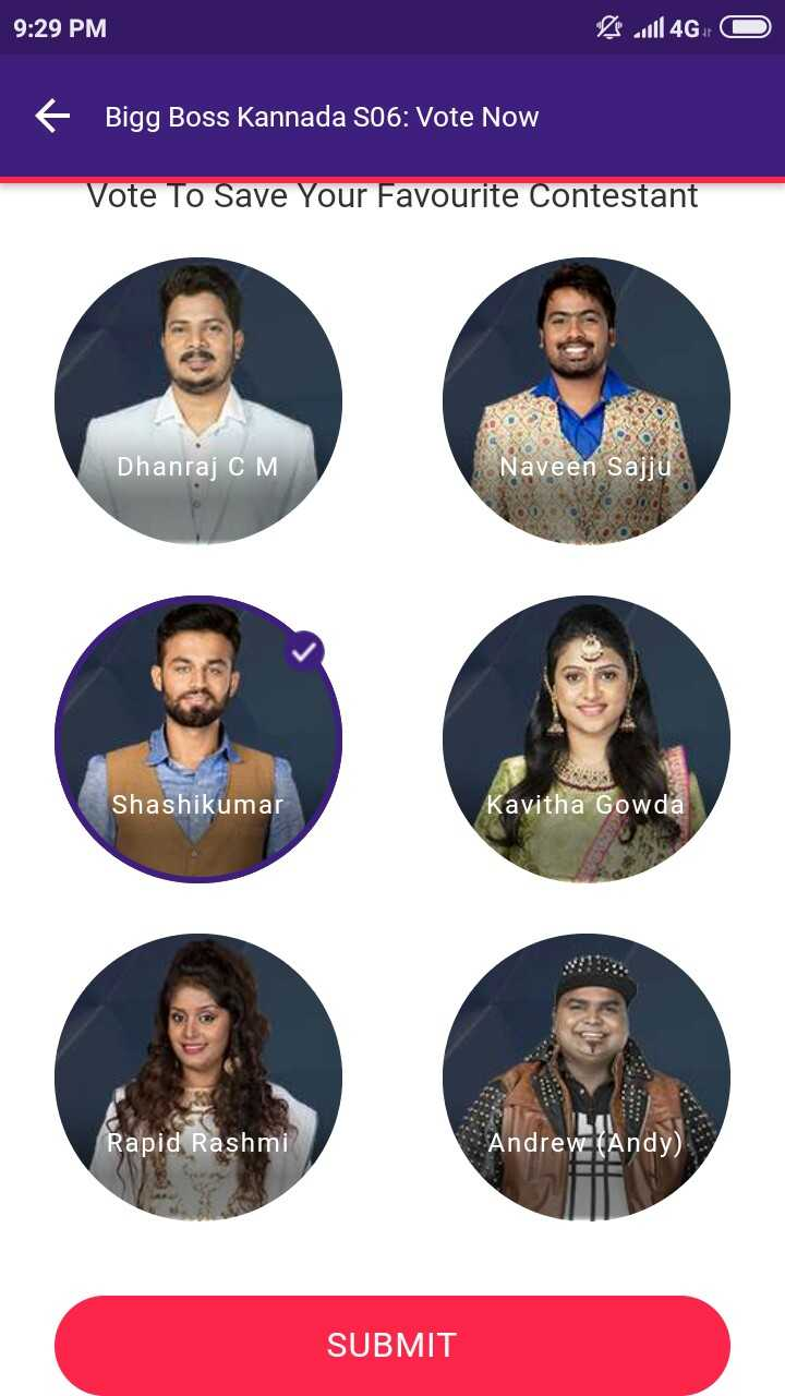 📺ಬಿಗ್ ಬಾಸ್ season 6 - 9 : 29 PM 1114GO + Bigg Boss Kannada S06 : Vote Now Vote To Save Your Favourite Contestant Dhanraj CM Naveen Sajju Shashikumar Kavitha Gowda Rapid Rashmi Andrew ( Andy SUBMIT - ShareChat