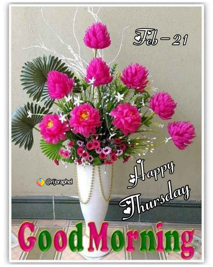 🌅ಶುಭೋದಯ - Feb - 21 @ rijoraphel Thursday Good Morning - ShareChat