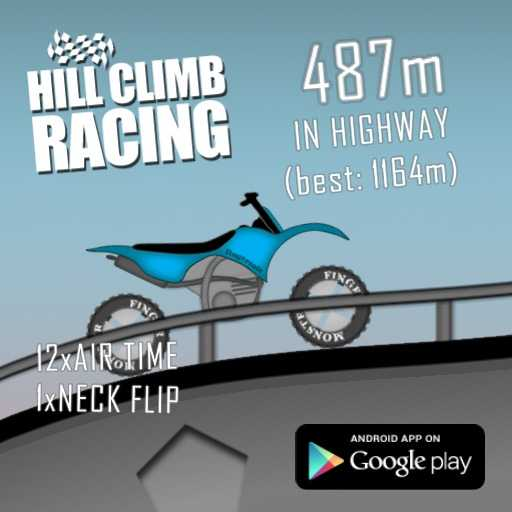 മഹാത്മാ ഗാന്ധി ചരമദിനം - HILL CLIMB RACING 487m IN HIGHWAY ( best : 1164m ) 12xAIR TIME IxNECK FLIP ANDROID APP ON Google play - ShareChat
