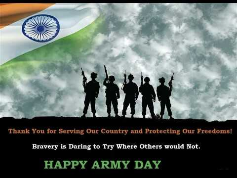 👮‍♀️👮‍♂️भारतीय लष्कर दिवस - Thank You for Serving Our Country and Protecting Our Freedoms ! Bravery is Daring to Try Where Others would Not . HAPPY ARMY DAY - ShareChat
