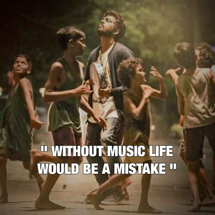 ✍ Quotes - WITHOUT MUSIC LIFE WOULD BE A MISTAKEN - ShareChat