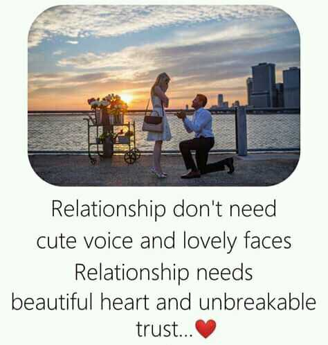 ❤️ പ്രണയം സ്റ്റാറ്റസുകൾ - Relationship don ' t need cute voice and lovely faces Relationship needs beautiful heart and unbreakable trust . . . - ShareChat