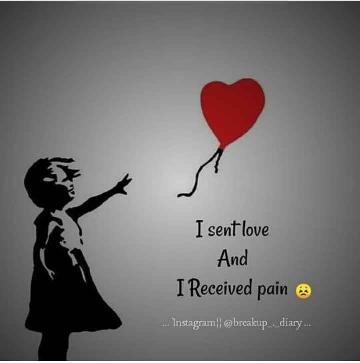 ❤️ പ്രണയം സ്റ്റാറ്റസുകൾ - I sent love And I Received pain . . . Instagram : @ breakup . diary . . . - ShareChat