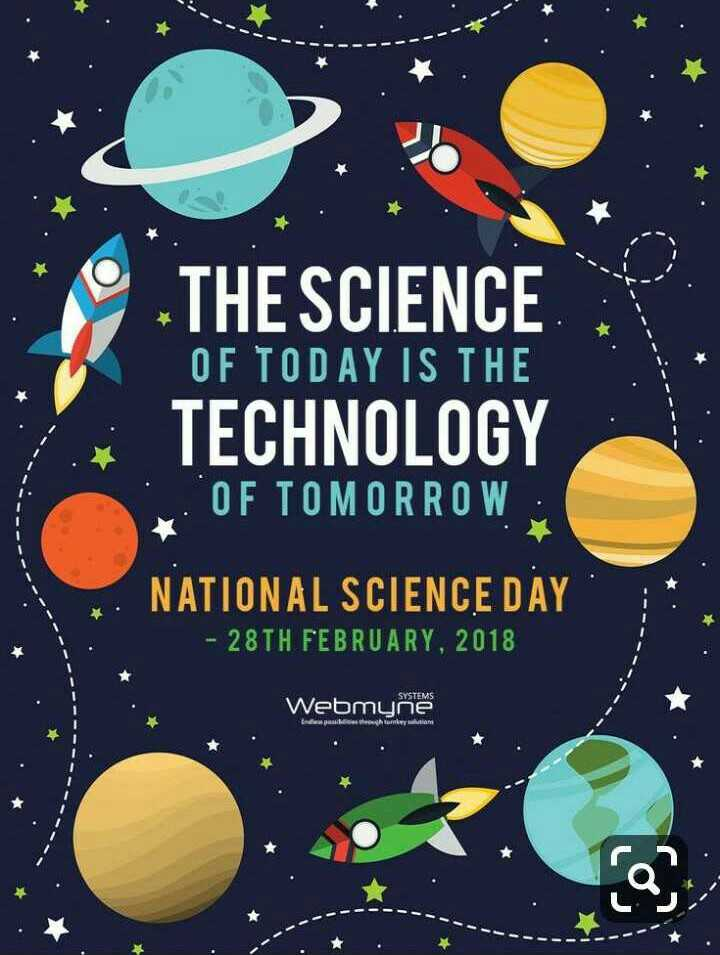 ⚗️राष्ट्रीय विज्ञान दिवस - OF TODAY IS THE THE SCIENCE TECHNOLOGY VOF TOMORROW NATIONAL SCIENCE DAY - 28TH FEBRUARY , 2018 Webmyne யோகர்ட் சாhயாாாடdn - ShareChat