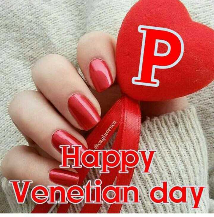 🅰️ ਵੈਲੇਨਟਾਈਨ ਡੇ Name Art - @ caglaorucu Happy Venetian day - ShareChat