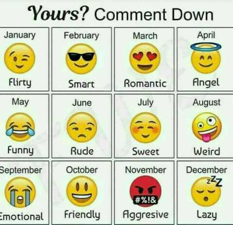 📽️ വീഡിയോ സ്റ്റാറ്റസ് - Yours ? Comment Down January February March April 6a Flirty Smart Romantic Angel May June July August Funny Rude Sweet Weird September October November IN December zzz # % ! & Aggresive Emotional Friendly Lazy - ShareChat