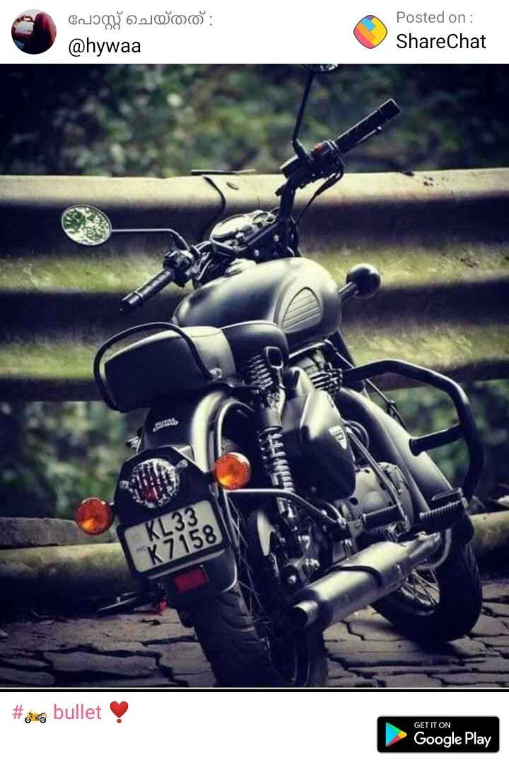 🏍️ bullet ❣️ - Cology Owo : @ hywaa Posted on : ShareChat AFT # 8 bullet GET IT ON Google Play - ShareChat