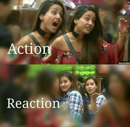 bigg boss12 - Action Recorded Reaction - ShareChat