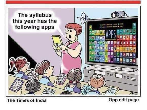 Thoughts Of Days - The syllabus this year has the following apps ADDC IN BOBODOU HOLAE TOU ST oo 00 B * 1 The Times of India Opp edit page - ShareChat