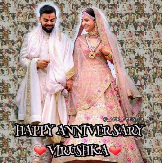 🎊Virushka 1st Anniversary - viral lovers for life HAPPYANNMERSARY By : VIRUSHKA - ShareChat