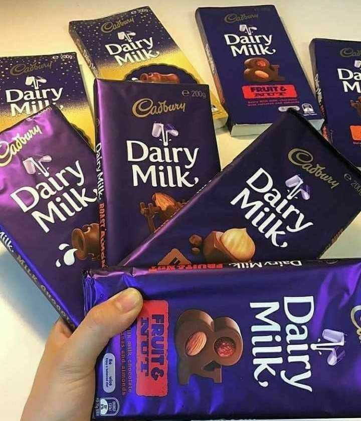 Chocolate Lover - e 2002 mogen Dairy Milk Dairy Milk Dairy Milk . Cafe Dairy Milk , e 2009 Cadbury Dairy Milk , FRUIT HAIR Chocol to as and almonds Daire mgevo RE HK ROAST 23 Alec Dal МН mmgren - ShareChat