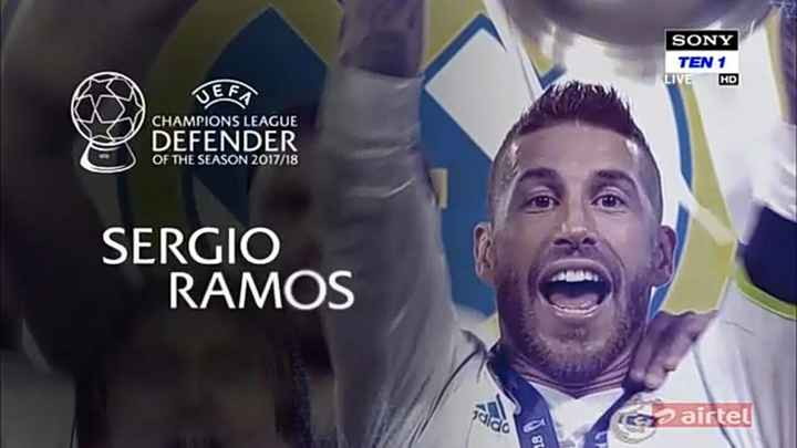 നമ്മൾ അതിജീവിച്ചു - SONY TEN 1 LIVE HD SEPA CHAMPIONS LEAGUE DEFENDER OF THE SEASON 2017 / 18 SERGIO RAMOS o airtel 18 - ShareChat