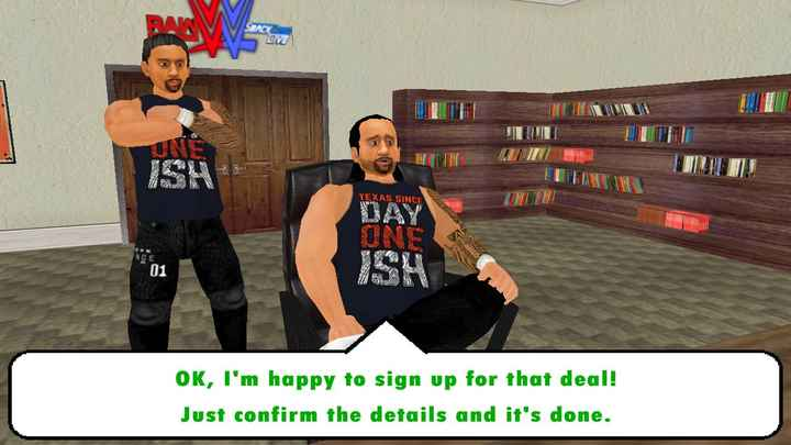 wwe w2k19 - LOVE or JA HOTUARUL TEXAS SINCE NCE ISH OK , I ' m happy to sign up for that deal ! Just confirm the details and it ' s done . - ShareChat