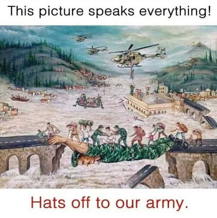 Indian Army - This picture speaks everything ! m / Hats off to our army . - ShareChat