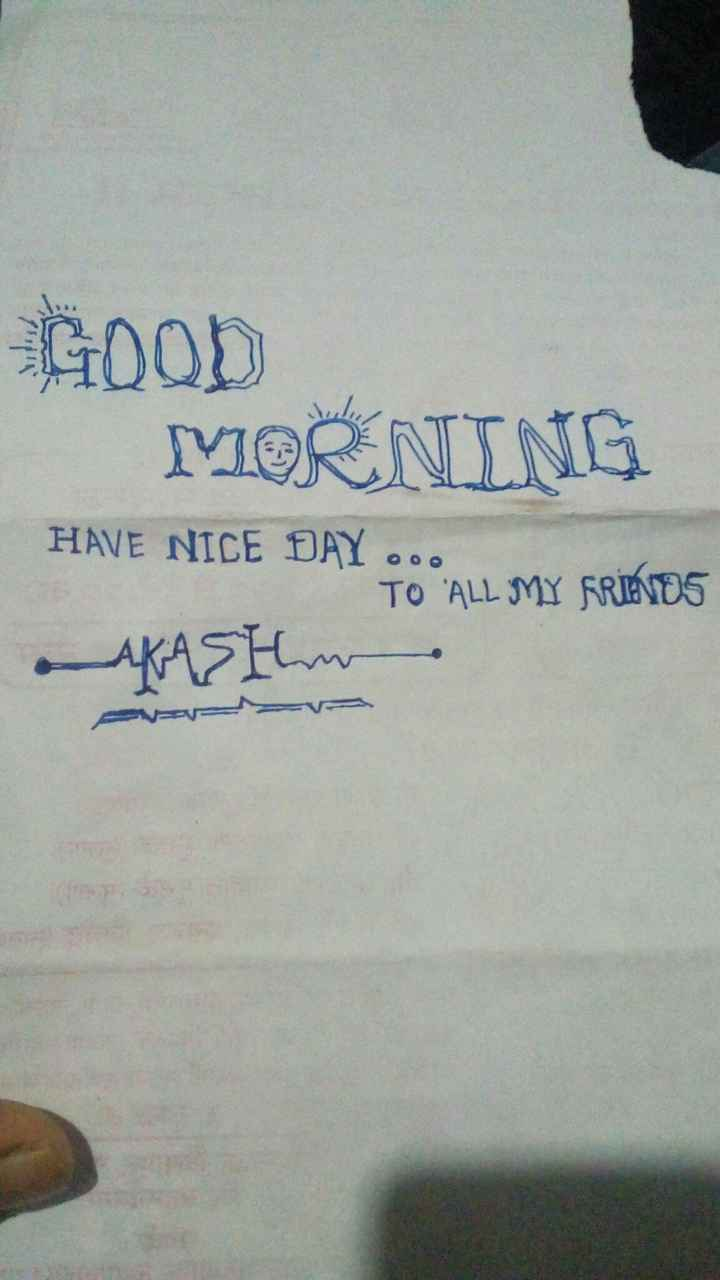 word art - GOOD MORNING HAVE NICE DAY . . . TO ALL MY FRIENDS Asthm - ShareChat