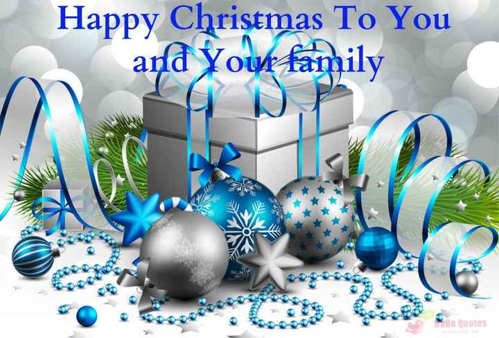 happy christmas🎅 - Happy Christmas To You and your family Ha a ouotes - ShareChat