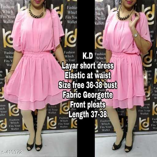 जींस टॉप - Fashion Which Fits Your Wallet Fashio You shion Thích s Vallet Whic Y Wal Is policie K . D fashion Layar short dress Elastic at waist Size free 36 - 38 bust Fabric Georgette Our Fa lu ion hich @ fra Tits lon Front pleats Length 37 allet Fils EN ( e S 410972 - ShareChat