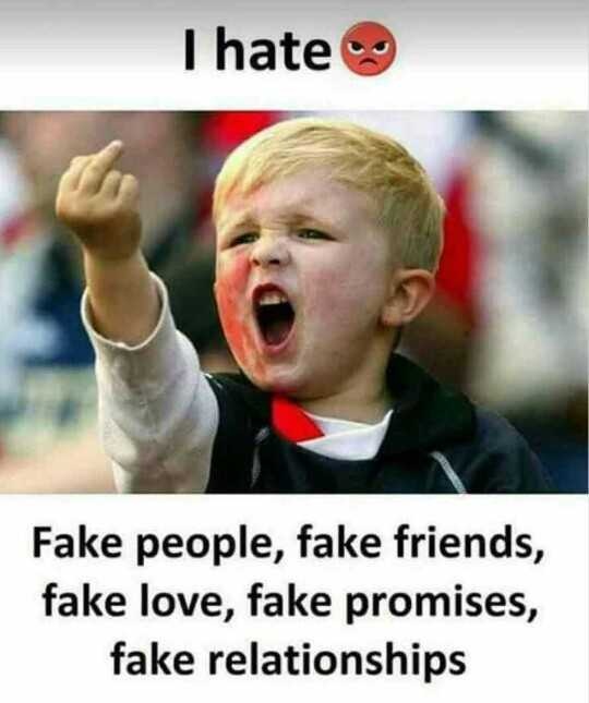 tom & jerry - I hate Fake people , fake friends , fake love , fake promises , fake relationships - ShareChat