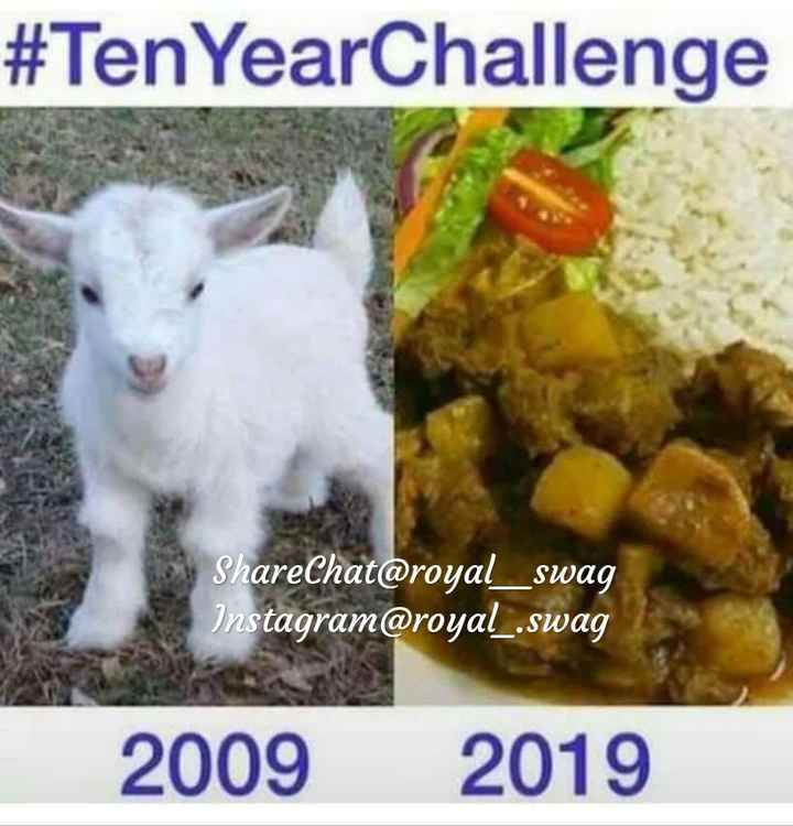 10 year challenge - # Ten YearChallenge ShareChat @ royal _ _ swag Instagram @ royal _ . swag 2009 2019 - ShareChat