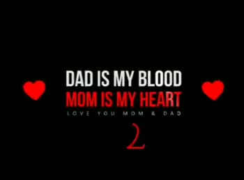 i ❤️u mom ded - DAD IS MY BLOOD MOM IS MY HEART LOVE YOU MOM & DAD DAD IS MY BLOOD MOM IS MY HEART LOVE YOU MOMB DAD - ShareChat