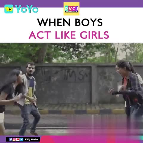 jai prabhas - • Goo RVC . WHEN BOYS ACT LIKE GIRLS India Download the app FOOV RVCJ Media - ShareChat