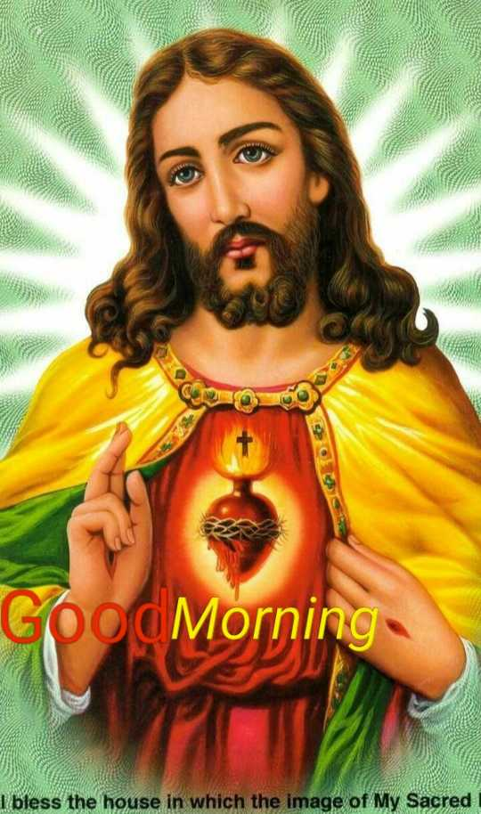 nice pic - Good Morning I bless the house in which the image of My Sacred - ShareChat