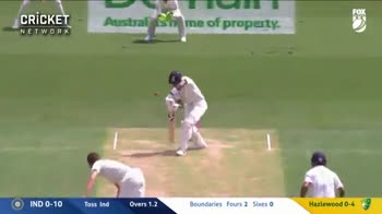IND VS AUS-4 வது டெஸ்ட் கிரிக்கெட் - CRICKET NETWORK O IND 1 - 10 Toss Ind Overs 1 . 3 Agarwal 03 KL Rahul / 9S Hazlewood 0 - 4 CRICKET NETWORK By nor - ShareChat