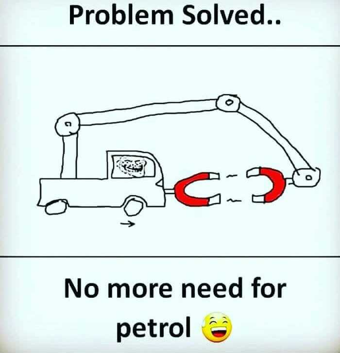 जुगाडी दिमाग - Problem Solved.. No more need for petrol - ShareChat