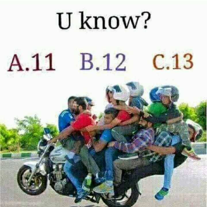 puzzles - U know? A.11 B.12 C.13 - ShareChat