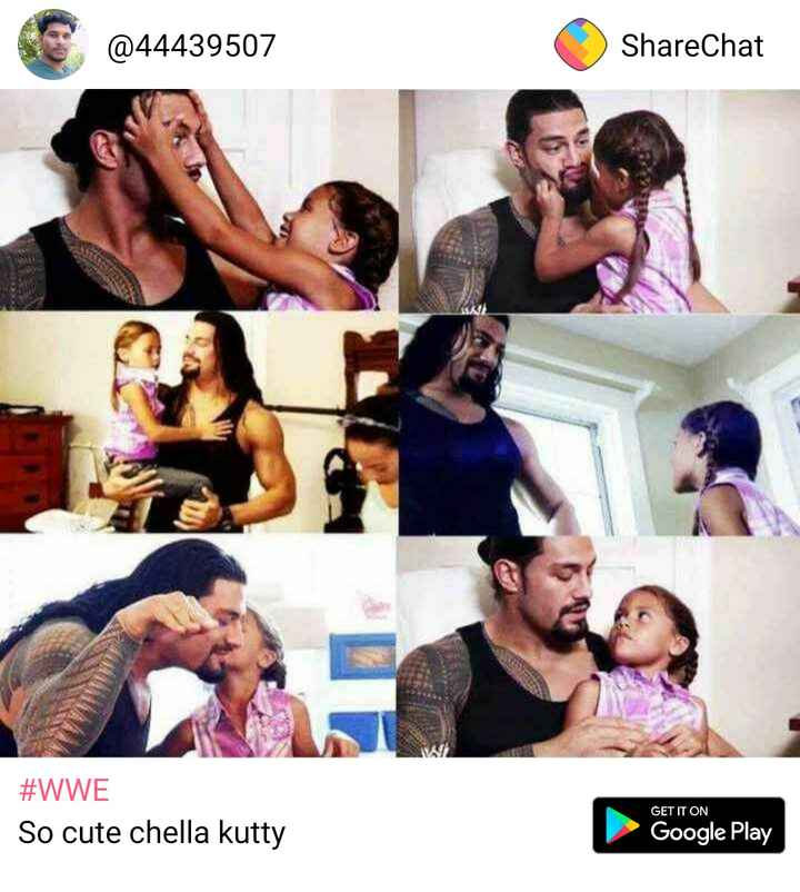 love - @ 44439507 ShareChat # WWE So cute chella kutty GET IT ON Google Play - ShareChat