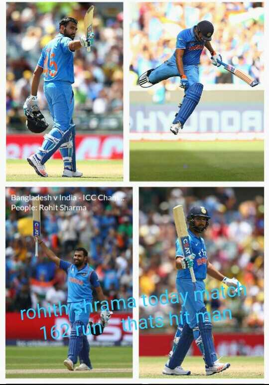 IND vs WI ODI - Bangladesh v India - ICC Chan . People : Rohit Sharma rohith shrama today malet 162runthats hit man - ShareChat