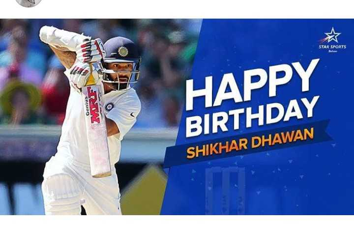 हैप्पी बर्थडे शिखर धवन - STAR SPORTS od SUOD LU HAPPY BIRTHDAY SHIKHAR DHAWAN - ShareChat